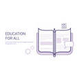 education for all learing online business concept vector image vector image