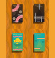 element for slide infographic on background vector image vector image