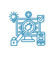 eliminating vulnerabilities linear icon concept vector image