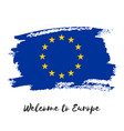 european union watercolor flag icon vector image