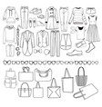 fashion collection of clothes female and male vector image vector image