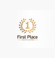 first place number one golden laurel wreath vector image vector image