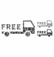 free delivery composition icon uneven items vector image vector image
