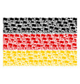 germany flag collage of waving flag items vector image