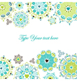 Green and blue decorative elements vector image vector image