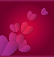 greeting card for happy valentines dayfor vector image vector image