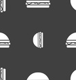 Hamburger icon sign Seamless pattern on a gray vector image vector image