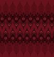 Hand drawn mehndi seamless pattern vector image vector image