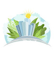 industry sustainable development with vector image