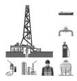isolated object of oil and gas symbol set of oil vector image