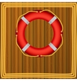 Life Buoy On boards Background ropes vector image
