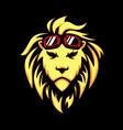 lion head cartoon vector image vector image