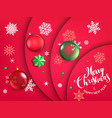 merry christmas and happy new year concept red vector image