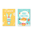 merry christmas collection on vector image vector image