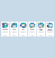 mobile app onboarding screens finance business vector image