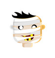 mummy head character design vector image vector image