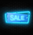 neon christmas or other holiday sale sign in vector image vector image