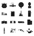 Oil industry set icons in black style Big vector image vector image