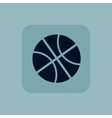 Pale blue basketball icon vector image