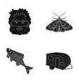 picnic rest tourism and other web icon in black vector image vector image