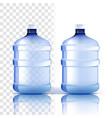 plastic bottle full object bluer classic vector image vector image
