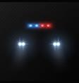 police car headlights patrol police car vector image vector image