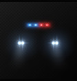 police car headlights patrol police car with vector image