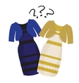 Puzzle what color of dress white and gold or vector image