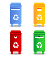 recycling trash containers vector image vector image