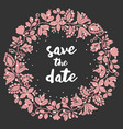 save date card with wreath vector image