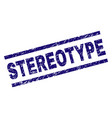 Scratched textured stereotype stamp seal