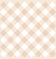 seamless beige and white background - checkered vector image vector image
