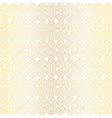 seamless gold circles geometric pattern on white vector image