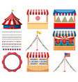 set circus games and other decorations vector image vector image