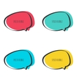 Set hand drawn speech bubble vector image vector image