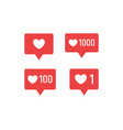set of like icon for social media and blogging vector image vector image