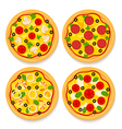 set of pizzas vector image