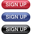 sign up buttons collection vector image vector image