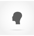 silhouette of a man head icon vector image vector image