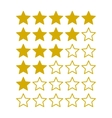 Simple Rating Stars on White background vector image vector image