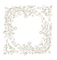 Sketch of floral frame for your design vector image vector image