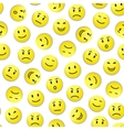Smiley pattern vector image vector image
