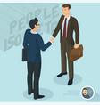 successful businessmen handshaking vector image vector image