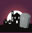 sweet happy halloween vector image
