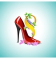 Symbol of Womens Day in the shoe vector image