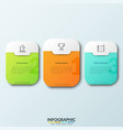 three separate white rounded rectangles vector image