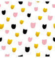 tulip flower hand drawn seamless pattern vector image