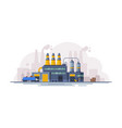 waste processing factory industrial building vector image vector image