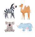 watercolor animal set vector image