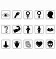 human feature icons vector image